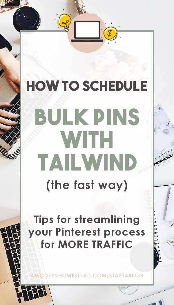 how to bulk schedule pins with tailwind