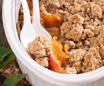 5 Minute Peach Crumble From Scratch