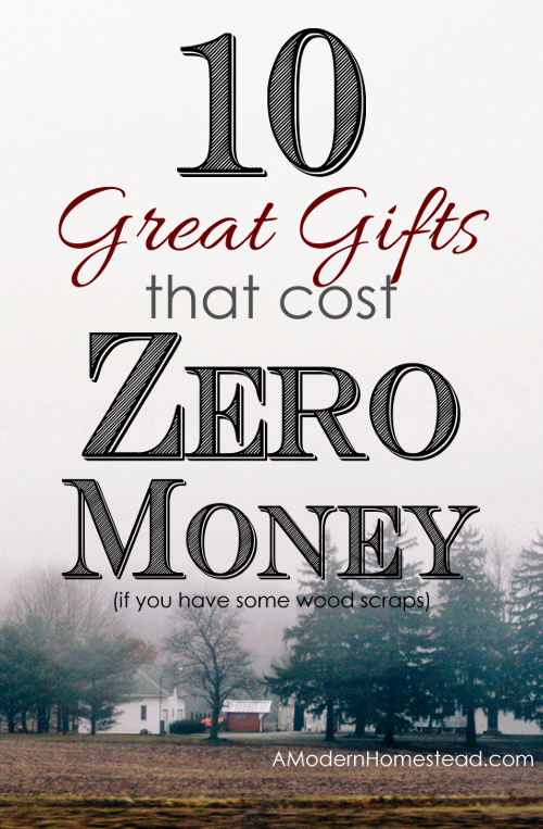 10 great gifts that cost zero money to make if you have some wood scraps!!