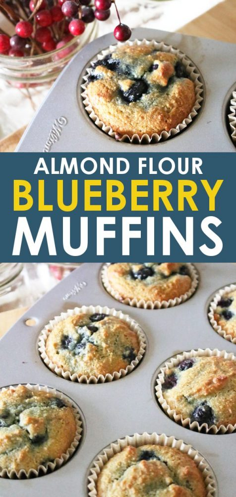 almond flour healthy blueberry muffins